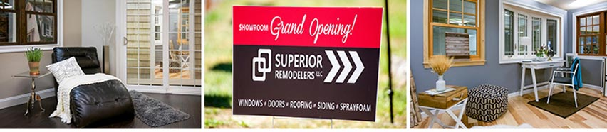 A picture from the Superior Remodelers Grand Opening ceremony.