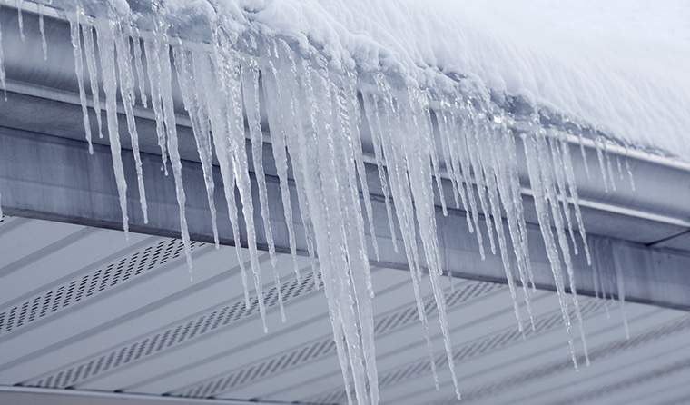 icicles caused by ice dams