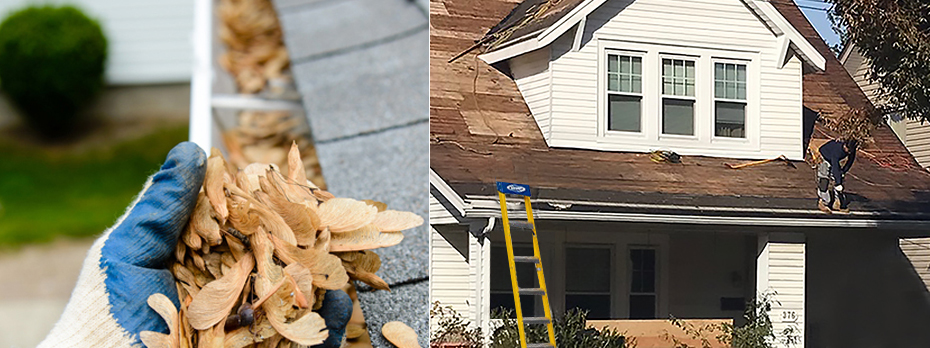 Clean gutters and repair your damage roof