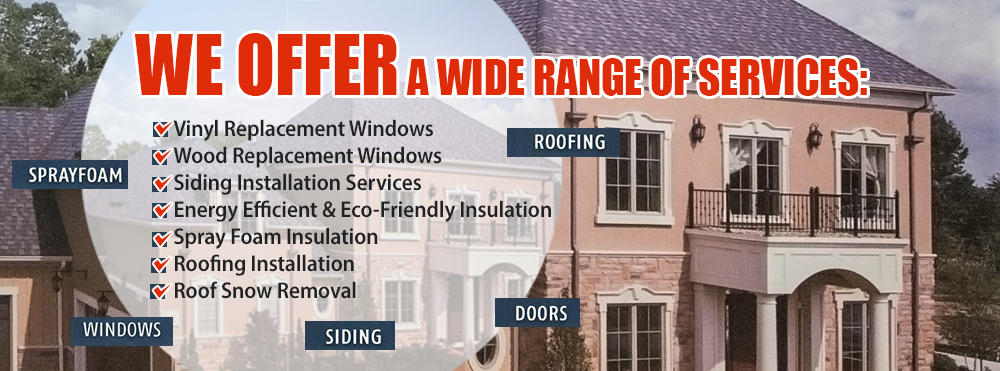 Replacement Windows, Siding & Roofing