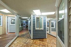 Superior Remodelers commercial and residential home improvement showroom.